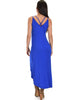 All Wrapped Up Strappy Royal Wrap Dress - Back Image