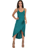 All Wrapped Up Strappy Green Wrap Dress - Main Image
