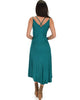 All Wrapped Up Strappy Green Wrap Dress - Back Image