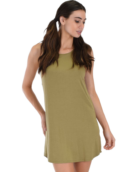 All Yours Open Back Olive Sleep Shirt