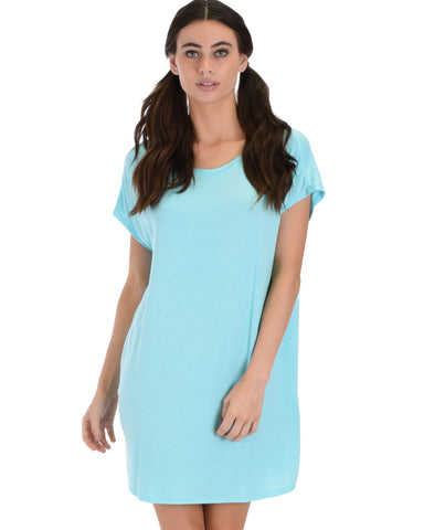 Dream Delight Cross Back Aqua Sleep Shirt
