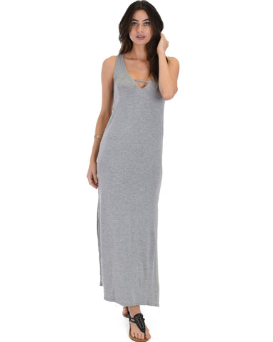 Day Break Grey Maxi Dress