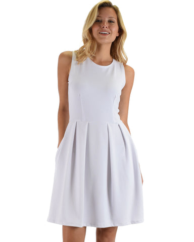 I'm Smitten Ivory Skater Dress With Pockets