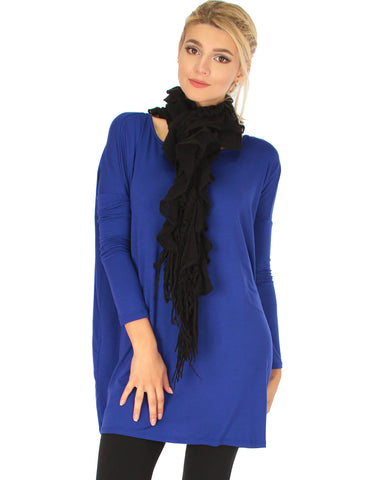 Better Together Over-Sized Long Sleeve Royal Tunic Top