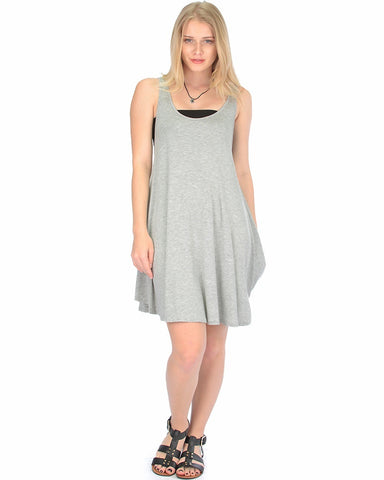 Oversized Grey Tank Dress