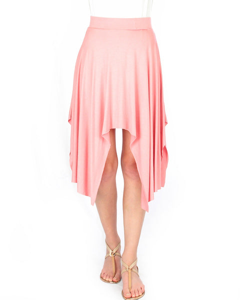 Breeze Away Raw Edge Pink Skirt