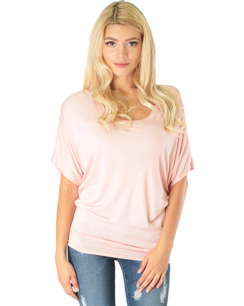 Contemporary Dolman Pink Tunic Top