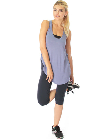 When the Wind Blows Racer-Back Blue Tank Top