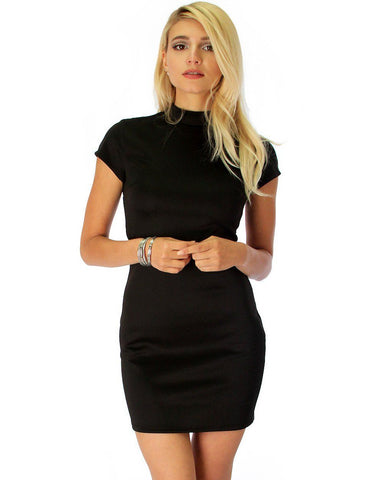 Show Off Black Bodycon Dress