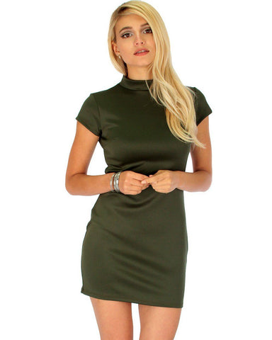 Show Off Olive Bodycon Dress