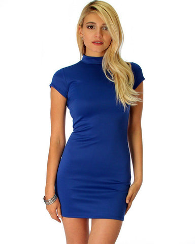 Show Off Royal Bodycon Dress