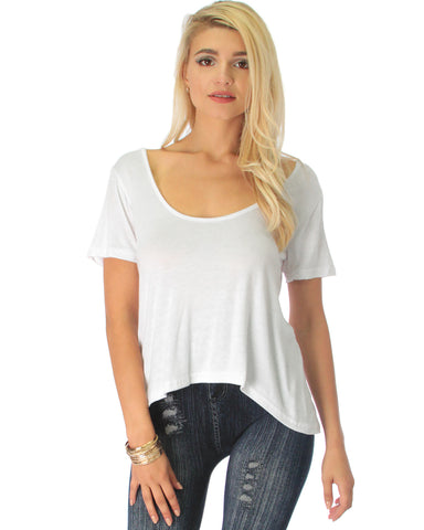 Open Back Ivory Tunic Top