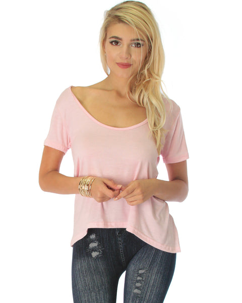 Open Back Pink Tunic Top