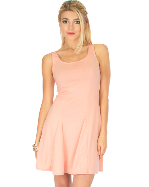 Flare Grounds Pink Skater Dress