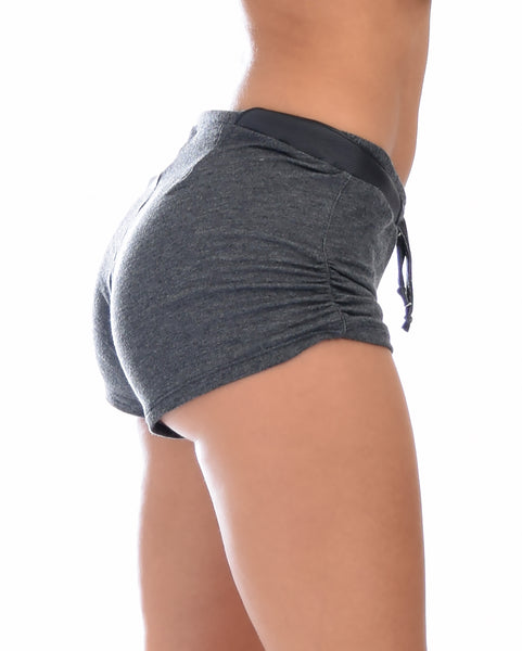 Love Me Shorty Charcoal Lounge Shorts