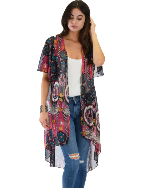 Breath of Life Pattern 8 Kimono Cardigan Top