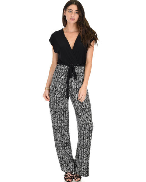 Many Moons V-Neck Black Jumpsuit