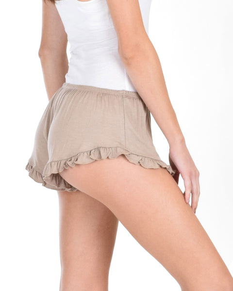 Vodi Taupe Lounge Shorts