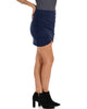 Pencil It In Ruched Navy Pencil Skirt - Side Image
