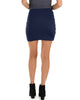 Pencil It In Ruched Navy Pencil Skirt - Back Image