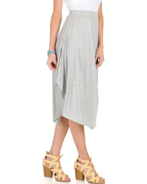 Breeze Away Raw Edge Grey Skirt