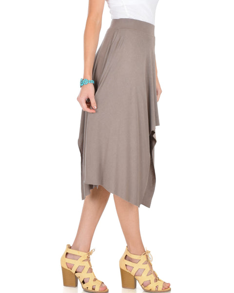 Breeze Away Raw Edge Taupe Skirt