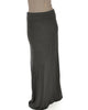 Casablanca Fold Over Charcoal Maxi Skirt - Main Image