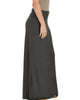Casablanca Fold Over Charcoal Maxi Skirt - Side Image