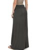Casablanca Fold Over Charcoal Maxi Skirt - Back Image