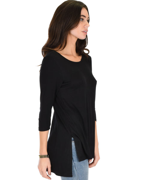Timeless Side Slit Tunic Top