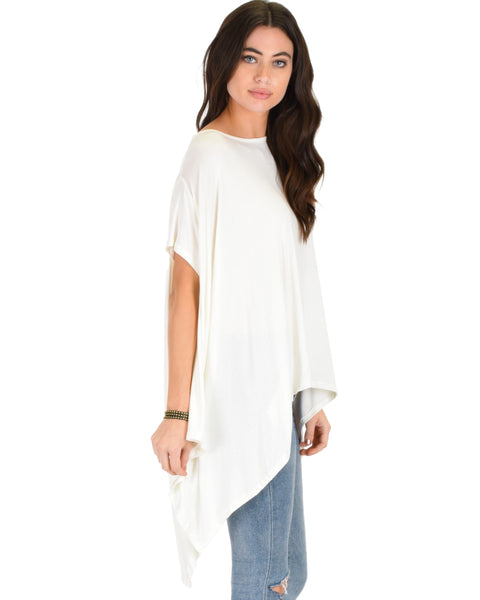 Somedays Lovin' Comfort Over-Sized Draped Ivory Tunic Top