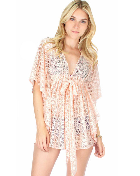 Air & Sea Pink Lace Cover-Up