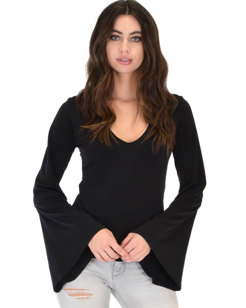 Ring My Bell Sleeve V-Neck Top