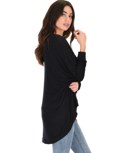 Light Weight Camille Spring Black Sweater Top