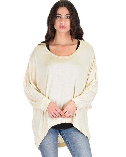 Light Weight Camille Spring Taupe Sweater Top