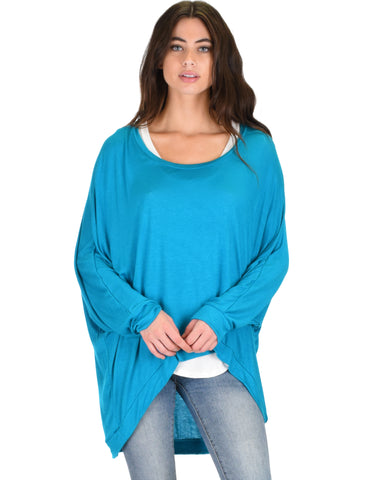 Light Weight Camille Spring Teal Sweater Top