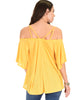 Sway Me Off The Shoulder Yellow Strappy Top - Back Image