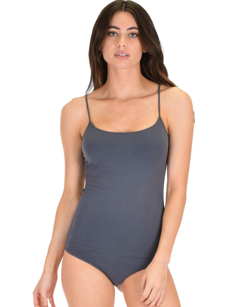 Onesies Thong Charcoal Body Suit
