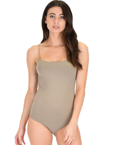 Onesies Thong Taupe Body Suit