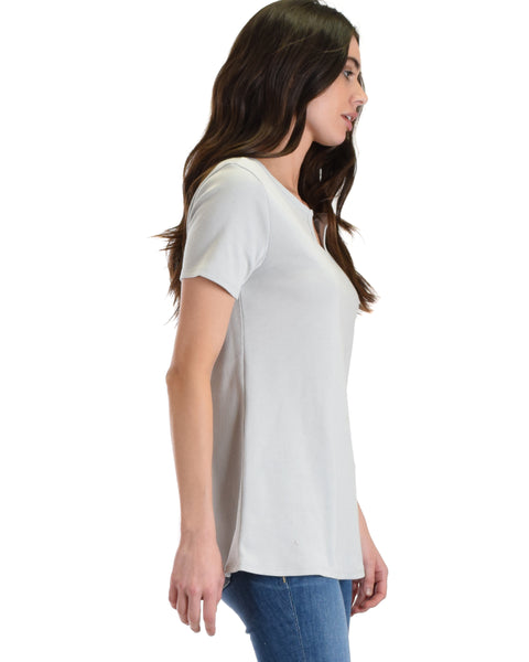 Lyss Loo Grey Best Basic Tee