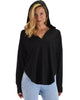 Lyss Loo Work It Out V-neck Hoodie Black Long Sleeve Top - Lyss Loo