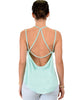 My Favorite Cross Back Straps Aqua Tank Top - Back Image