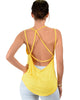 My Favorite Cross Back Straps Yellow Tank Top - Back Image