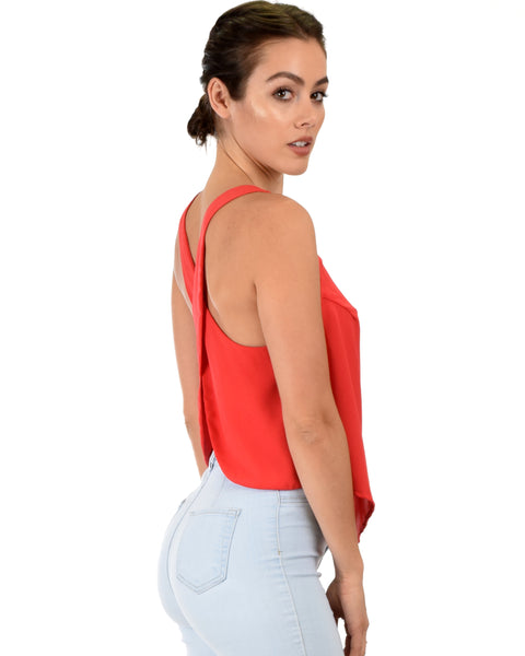 Totally Crossed Out Red Tank Top