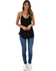 Breezy Beauty Y-Back Black Tank Top - Full Image