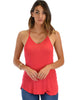 Breezy Beauty Y-Back Red Tank Top - Main Image