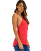 Breezy Beauty Y-Back Red Tank Top - Side Image