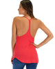 Breezy Beauty Y-Back Red Tank Top - Back Image