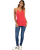 Breezy Beauty Y-Back Red Tank Top - Full Image
