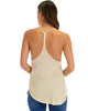 Breezy Beauty Y-Back Taupe Tank Top - Back Image